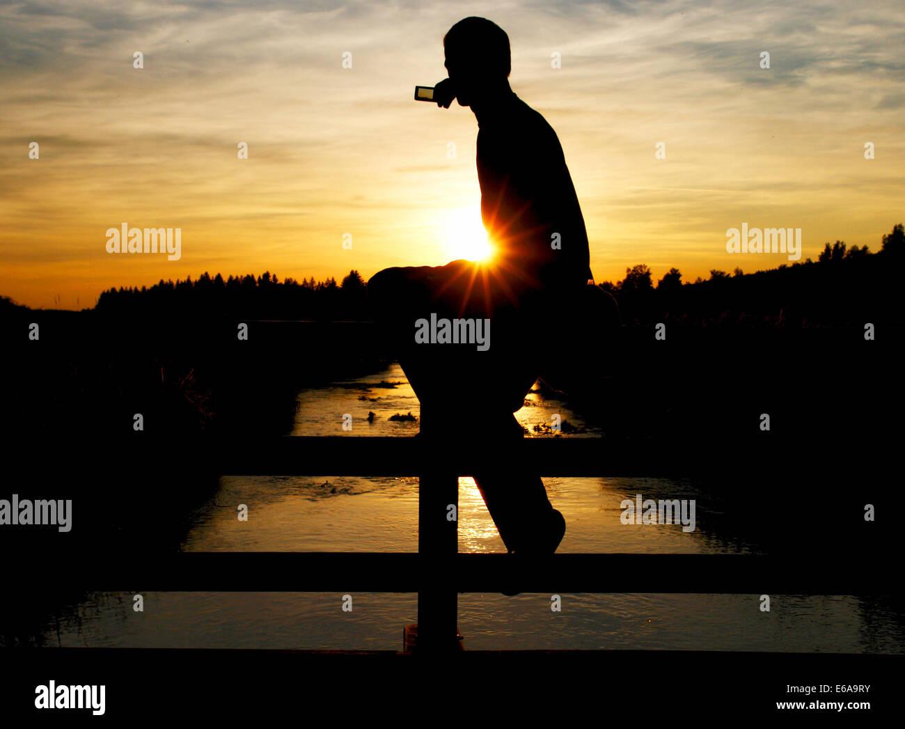 Urlaub Fotografie, Naturfotografie, Fotografie, Sonnenuntergang Stockbild