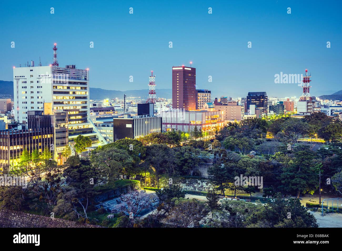Wakayama, Japan Innenstadt Stadtbild. Stockbild