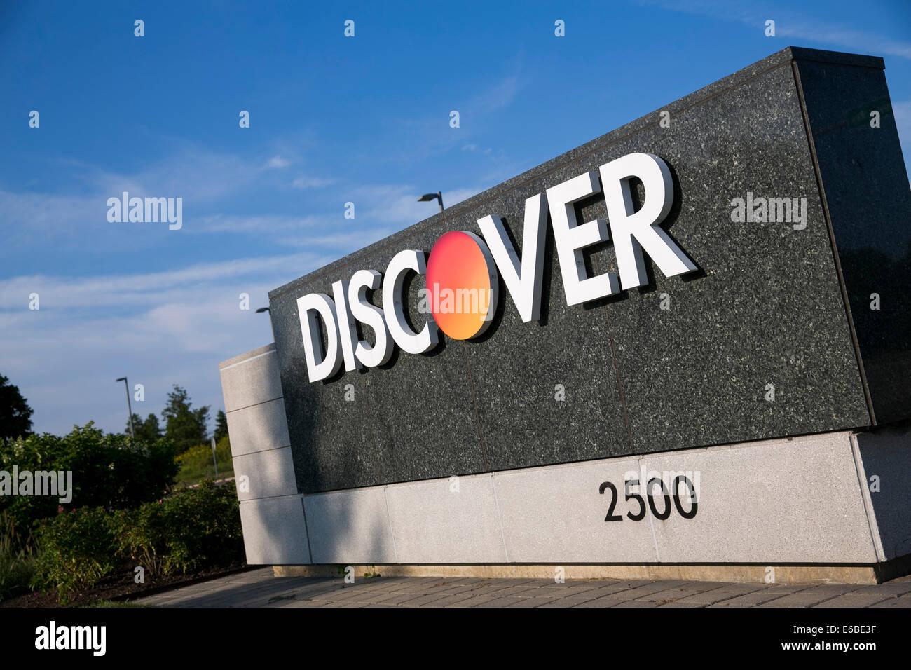 Der Hauptsitz von Discover Financial Services in Riverwoods, Illinois. Stockbild