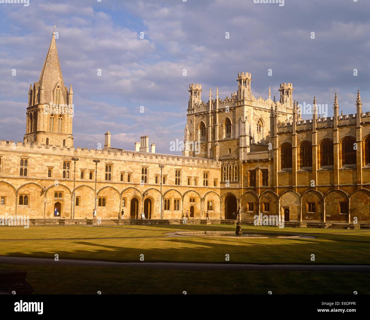 Christchurch College und Kathedrale Oxford UK Stockbild