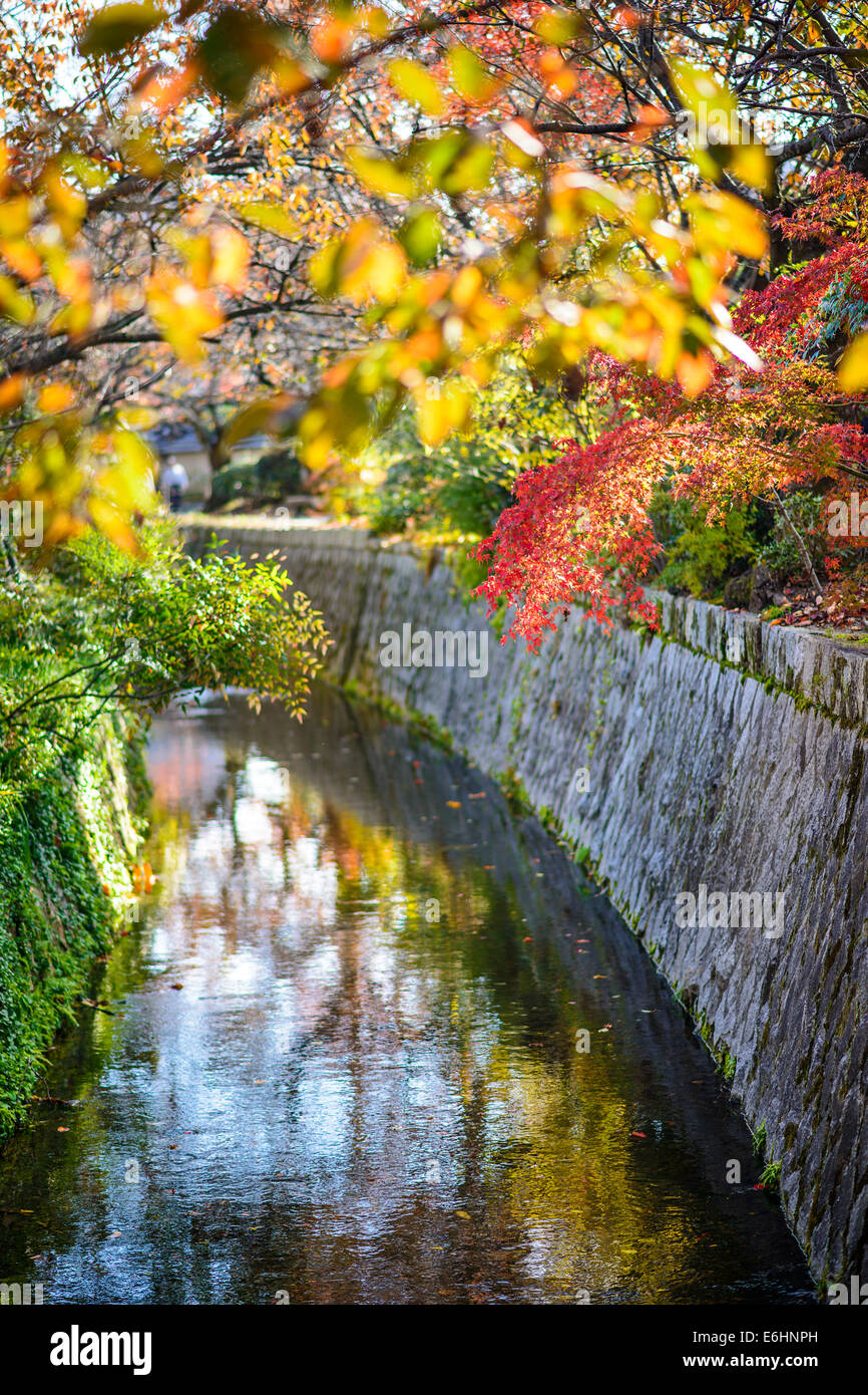 Kyoto, Japan am Philosophenweg im Herbst. Stockbild