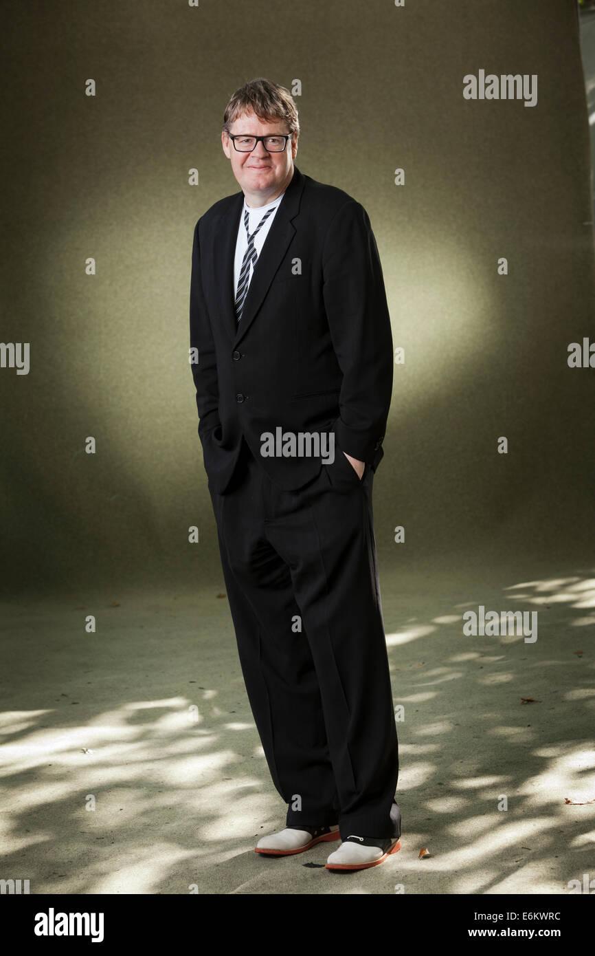 Edinburgh, Schottland. 24. August 2014. James Runcie, britischer Schriftsteller, Dokumentarfilmer, Fernsehproduzent Stockbild