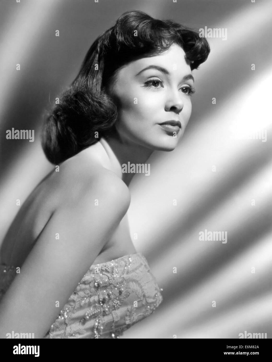 BARBARA RUSH uns Film- und TV-Schauspielerin über 1950 Stockbild
