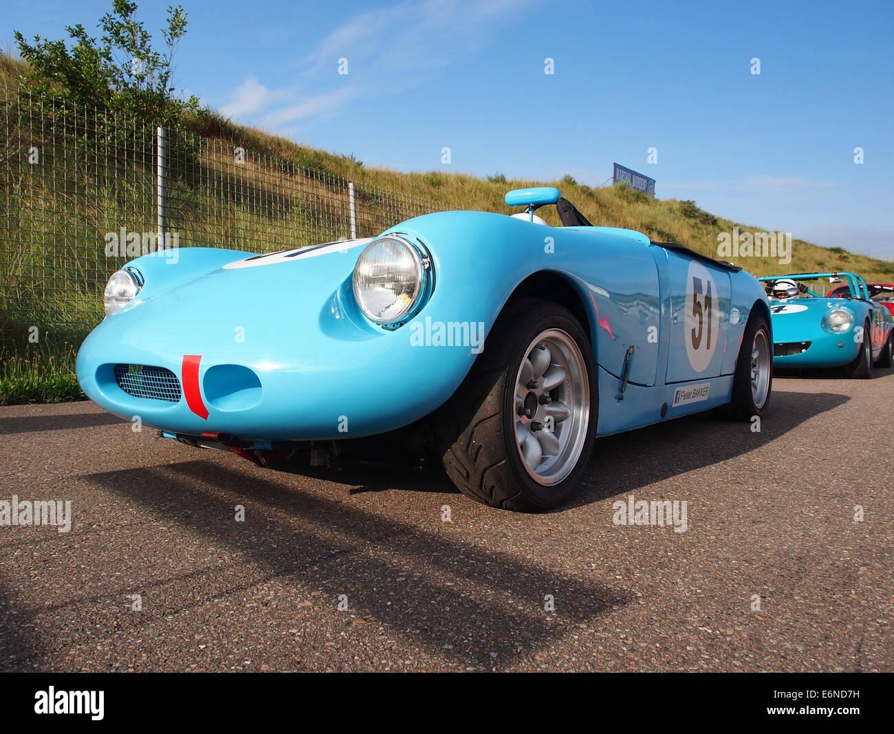 Austin Healey Sprite Monza - No52, Pieter Bakker in Zandvoort, pic3 Stockbild