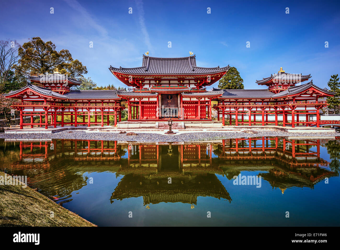 Kyoto, Japan bei Byodo-in Tempel und Garten. Stockbild