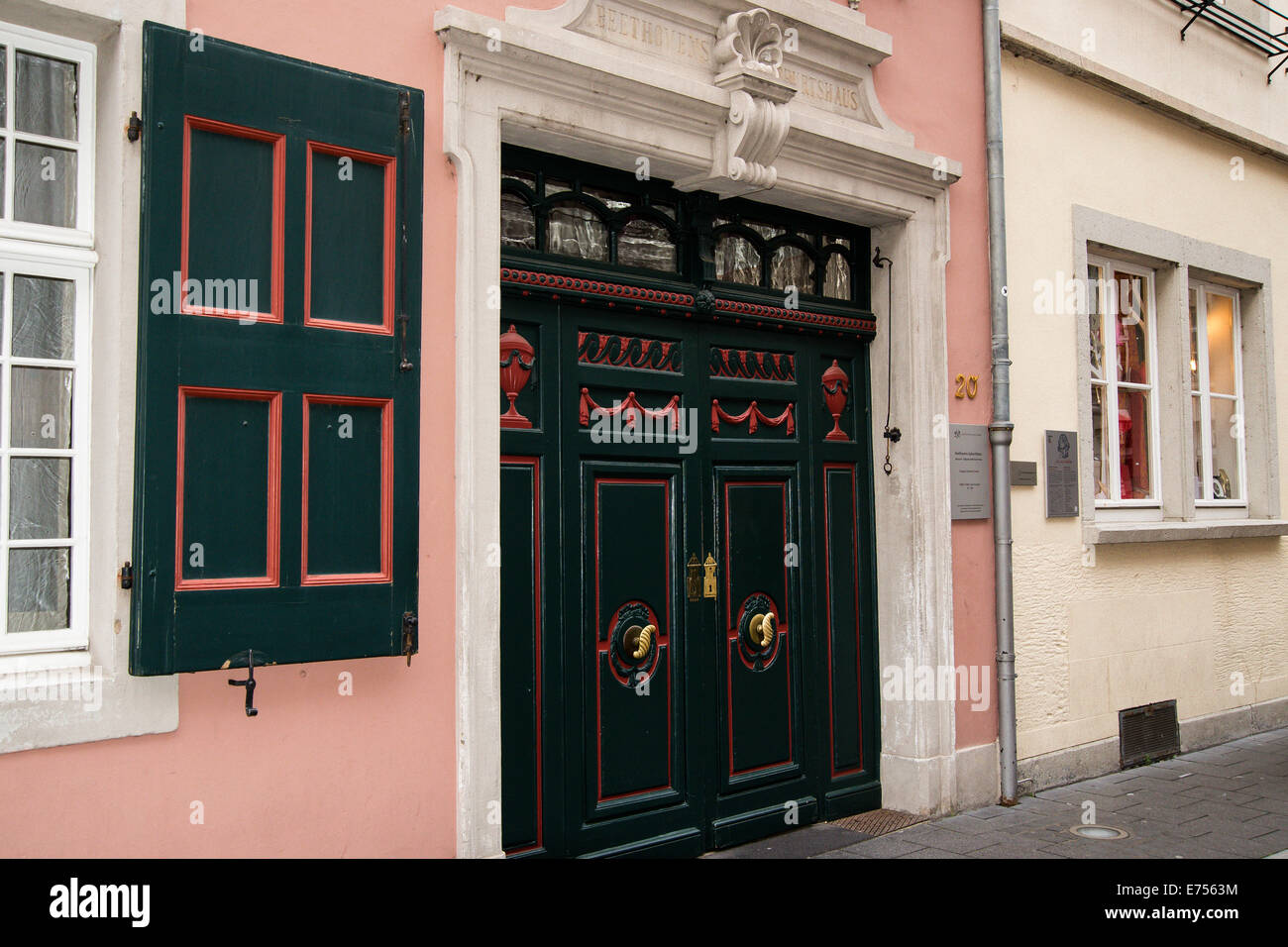 beethoven house bonn germany stockfotos beethoven house. Black Bedroom Furniture Sets. Home Design Ideas