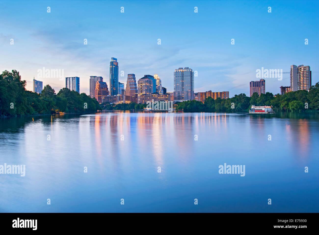 Skyline von Austin, Texas Stockbild
