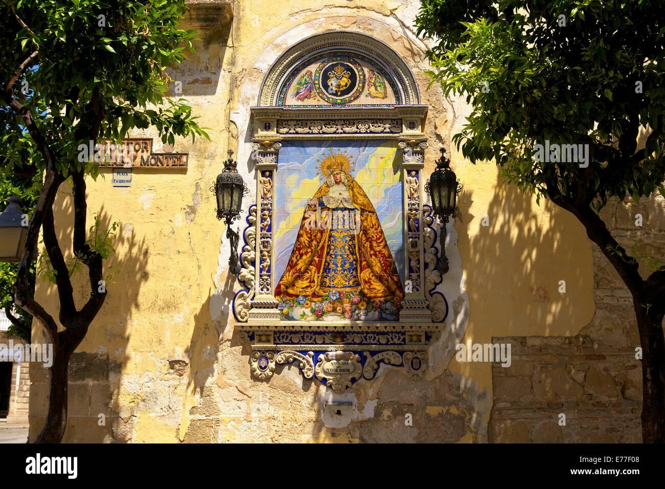 Provinz keramische Wandbild, Jerez De La Frontera, Cádiz, Andalusien, Spanien, Süd-West-Europa Stockbild