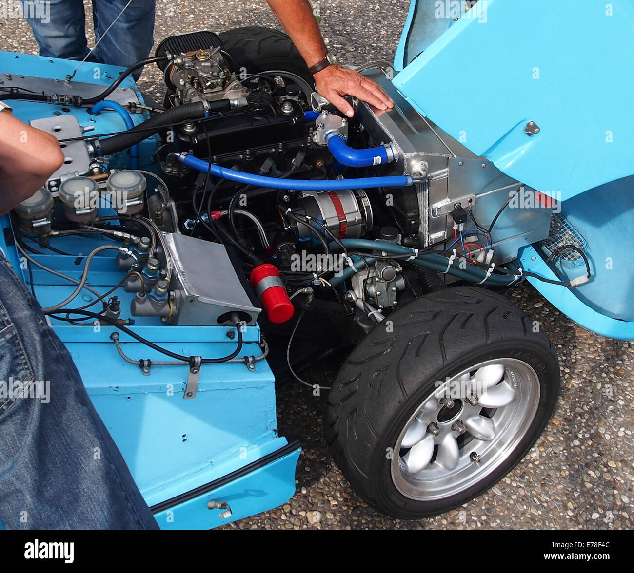 Austin Healey Sprite Monza - No52, Pieter Bakker in Zandvoort, pic7 Stockbild