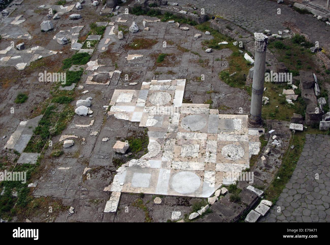 Forum des Trajan (98-108). Trajans Markt Pflaster. Als das Museum von den Kaiserforen werden. Rom. Italien. Stockbild