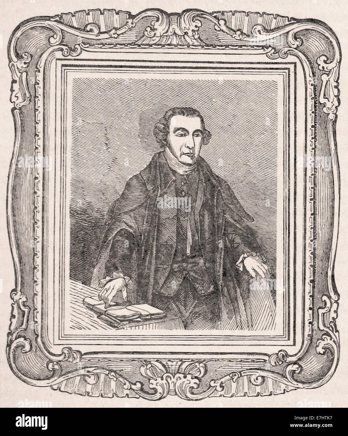 Porträt von Patrick Henry - Gravur - XIX. Jahrhundert Stockbild