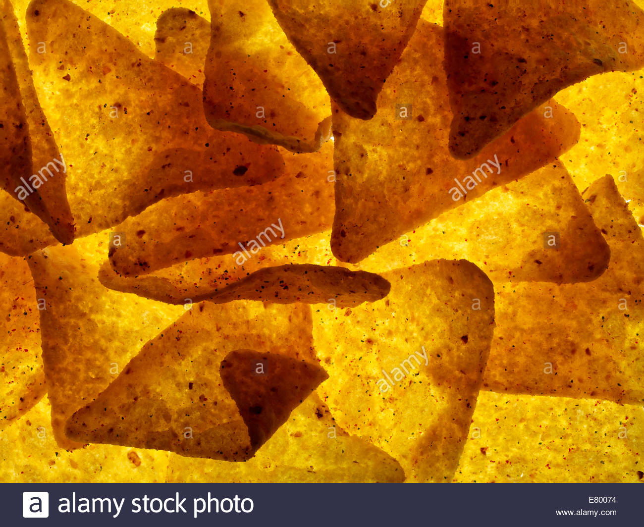 Nachos mais Tortilla Chips Stockbild