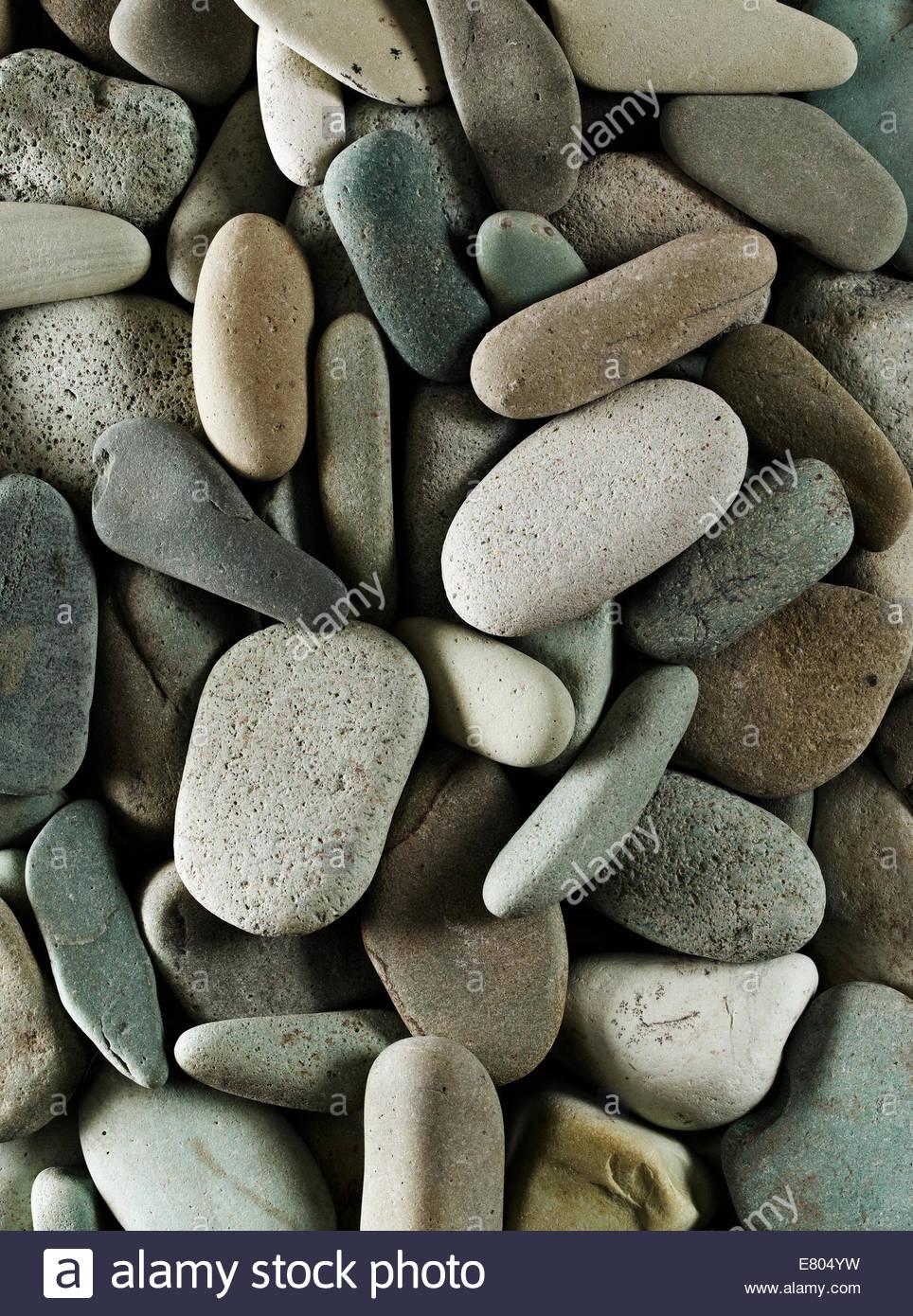 Fluss oder Strand Stein, perfekt für Hintergründe Stockfoto