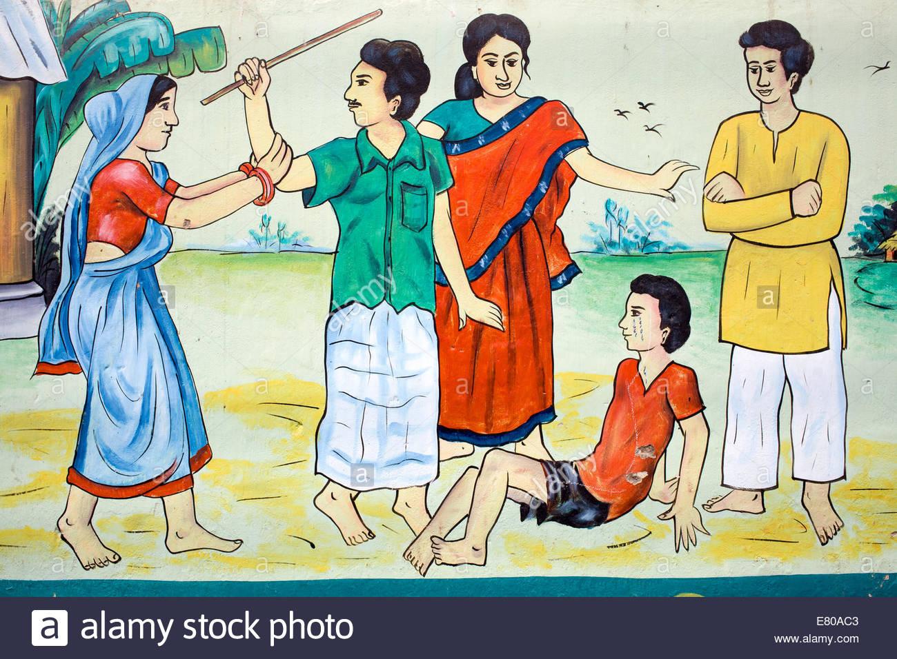 Kind Disziplin Bewusstsein Wandbild Stockbild
