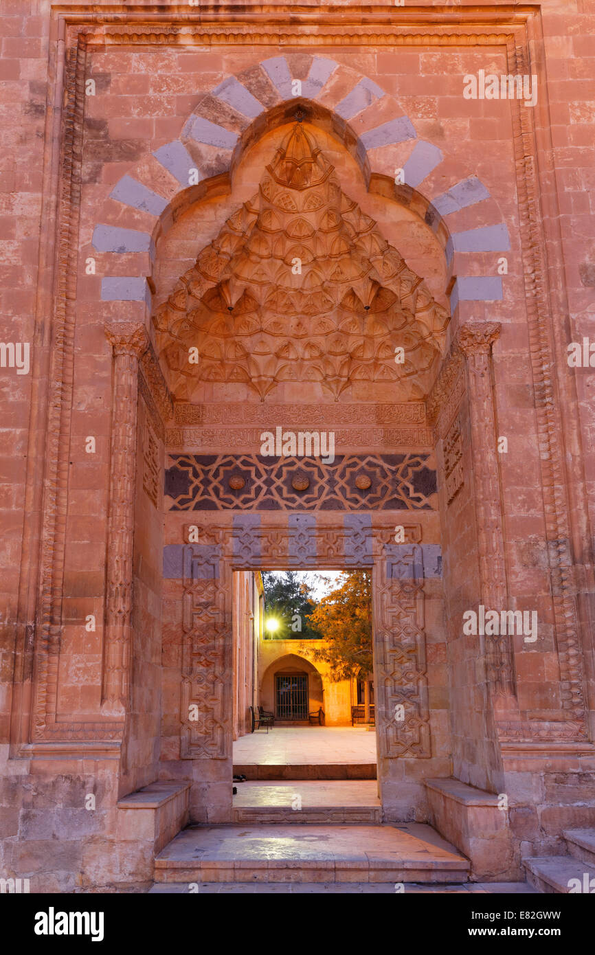 Türkei, Mardin, Portal der Abdullatif Moschee Stockbild