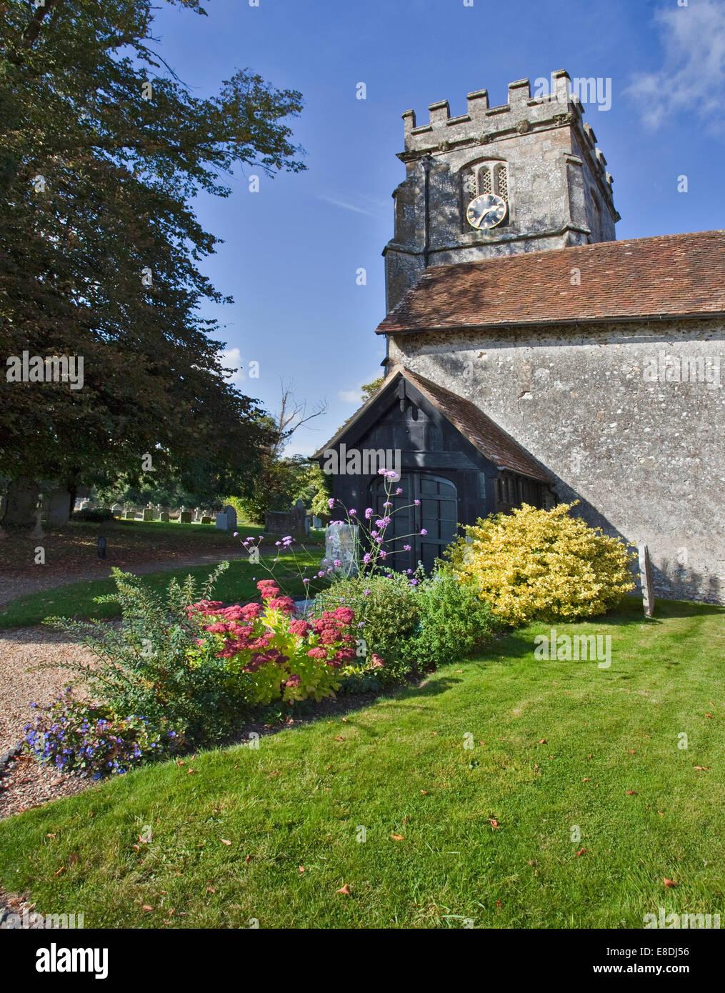 St. Peter und St. Paul Kirche, Soberton, Hampshire, England Stockbild
