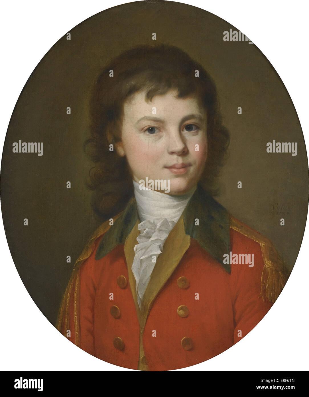 Porträt des Grafen Pavel Alexandrovich Stroganov (1774-1817), im Alter von 15. Künstler: Voille, Jean Stockbild