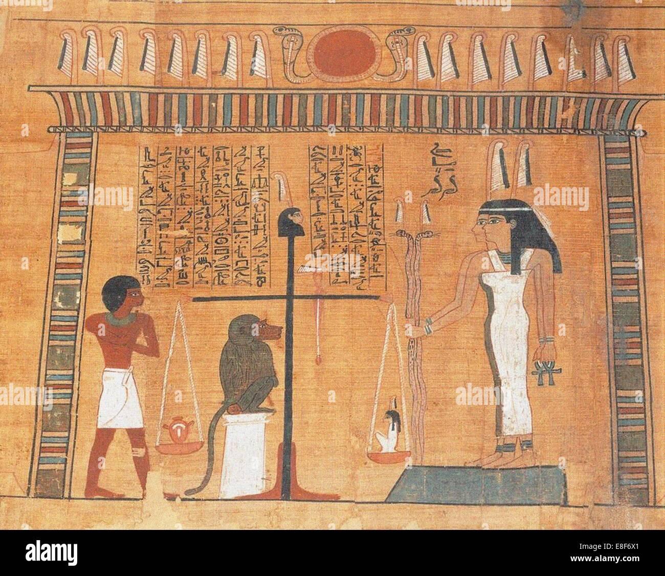 Das Buch der Toten. Künstler: Altes Ägypten Stockbild