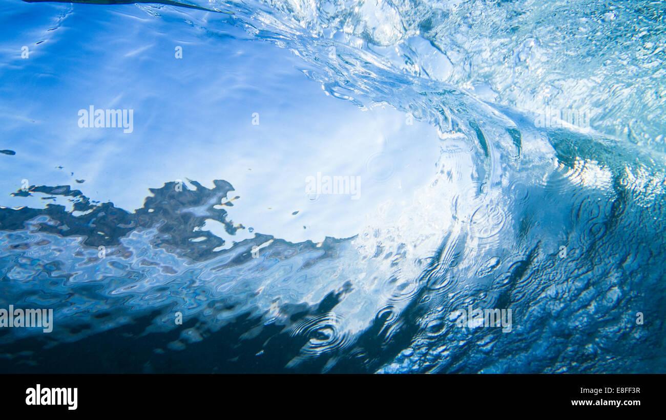 Nahaufnahme einer Welle Stockbild