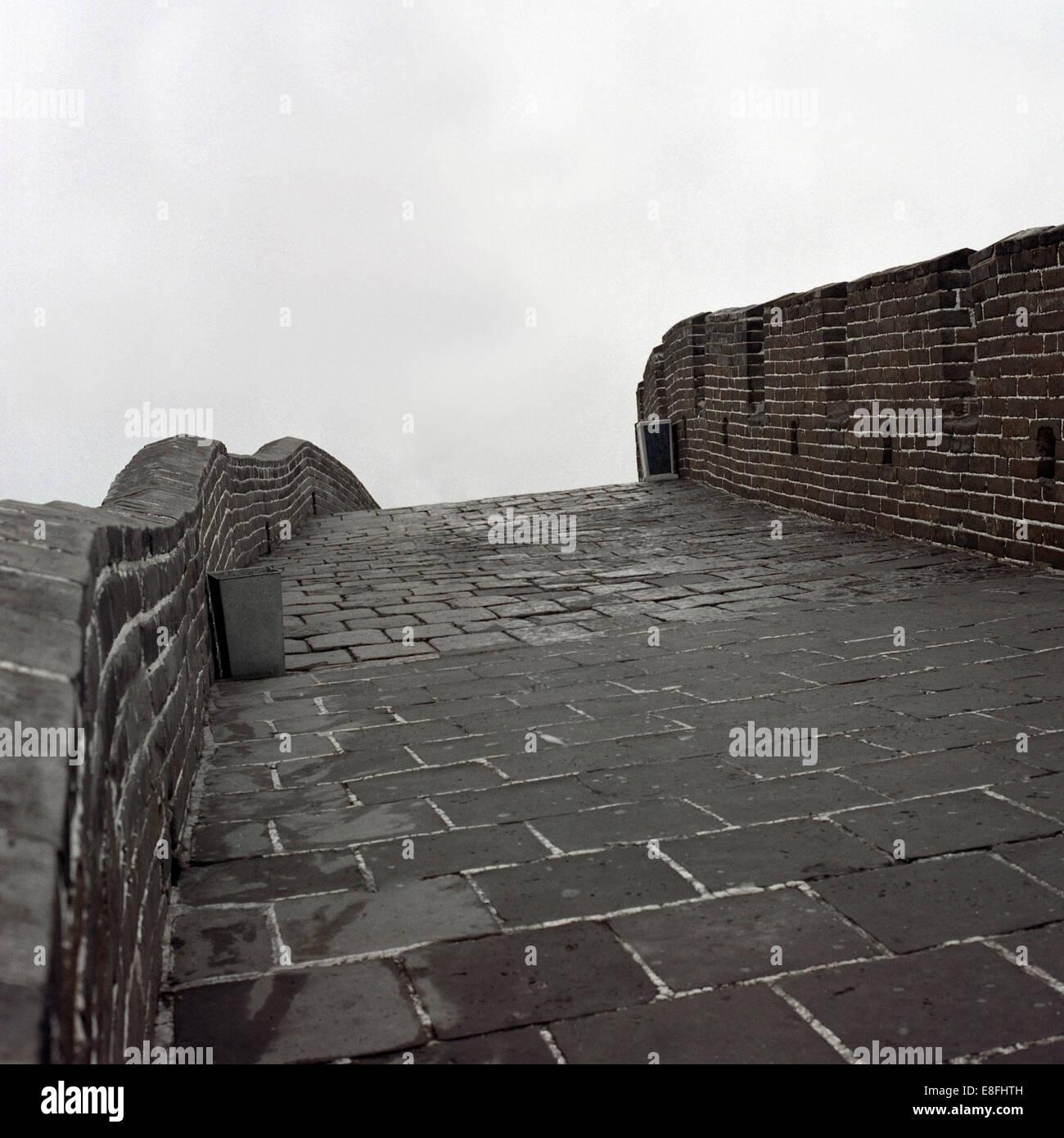 China, chinesische Mauer, Detail Stockbild