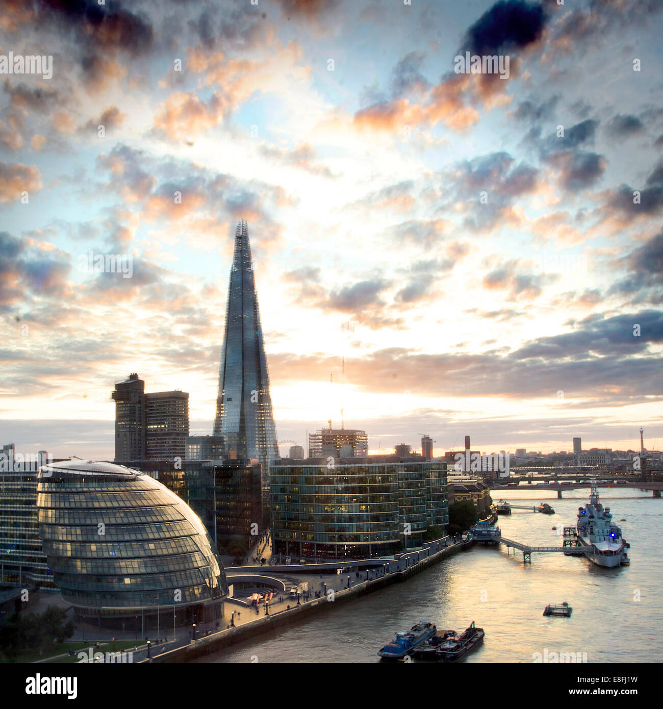 City Skyline, London, England, UK Stockbild