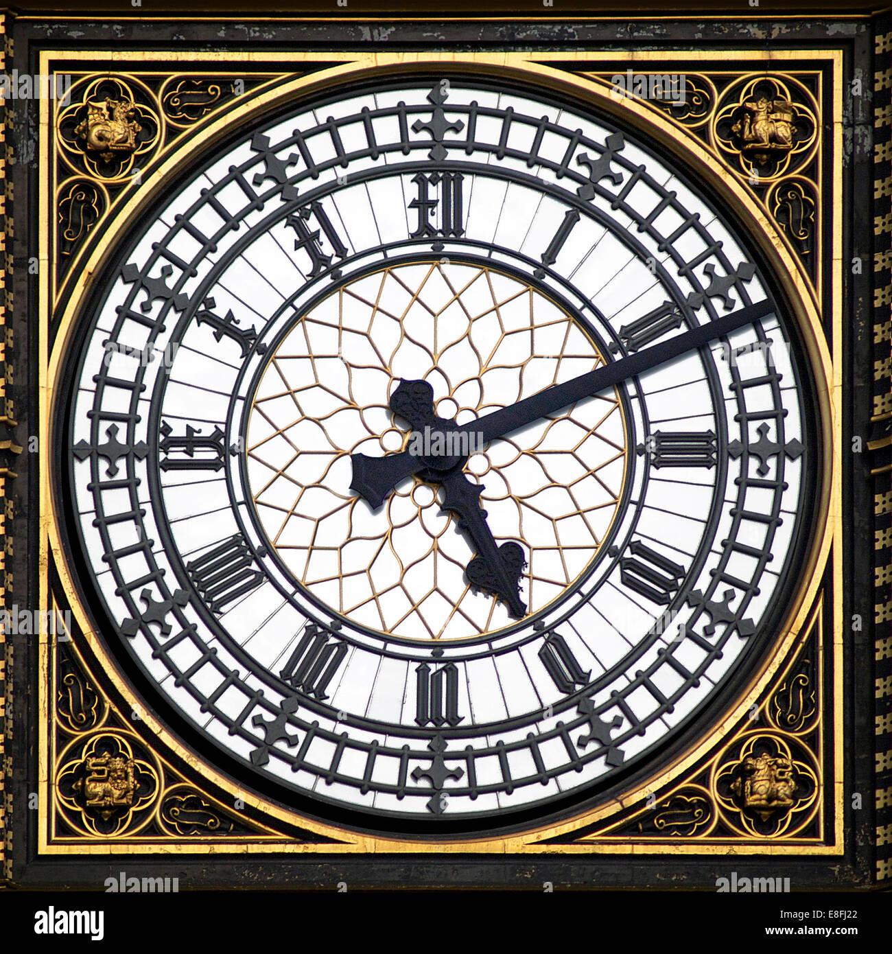 Big Ben Uhr Gesicht, London, England, UK Stockbild