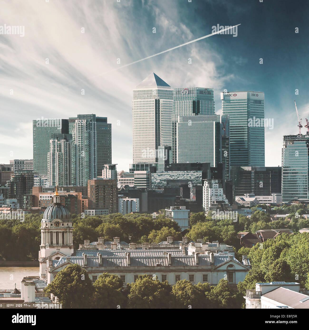 Großbritannien, England, London, Canary Wharf, Stadtbild Stockbild