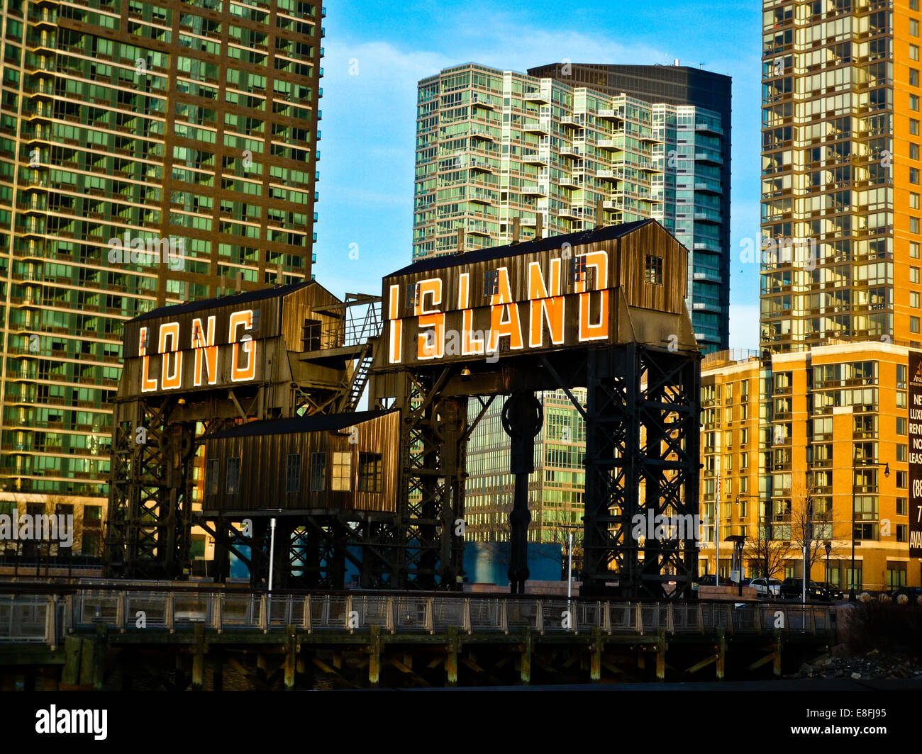 USA, New York City, Queens, Long Island City, Blick auf Queens - Midtown Tunnel Stockbild