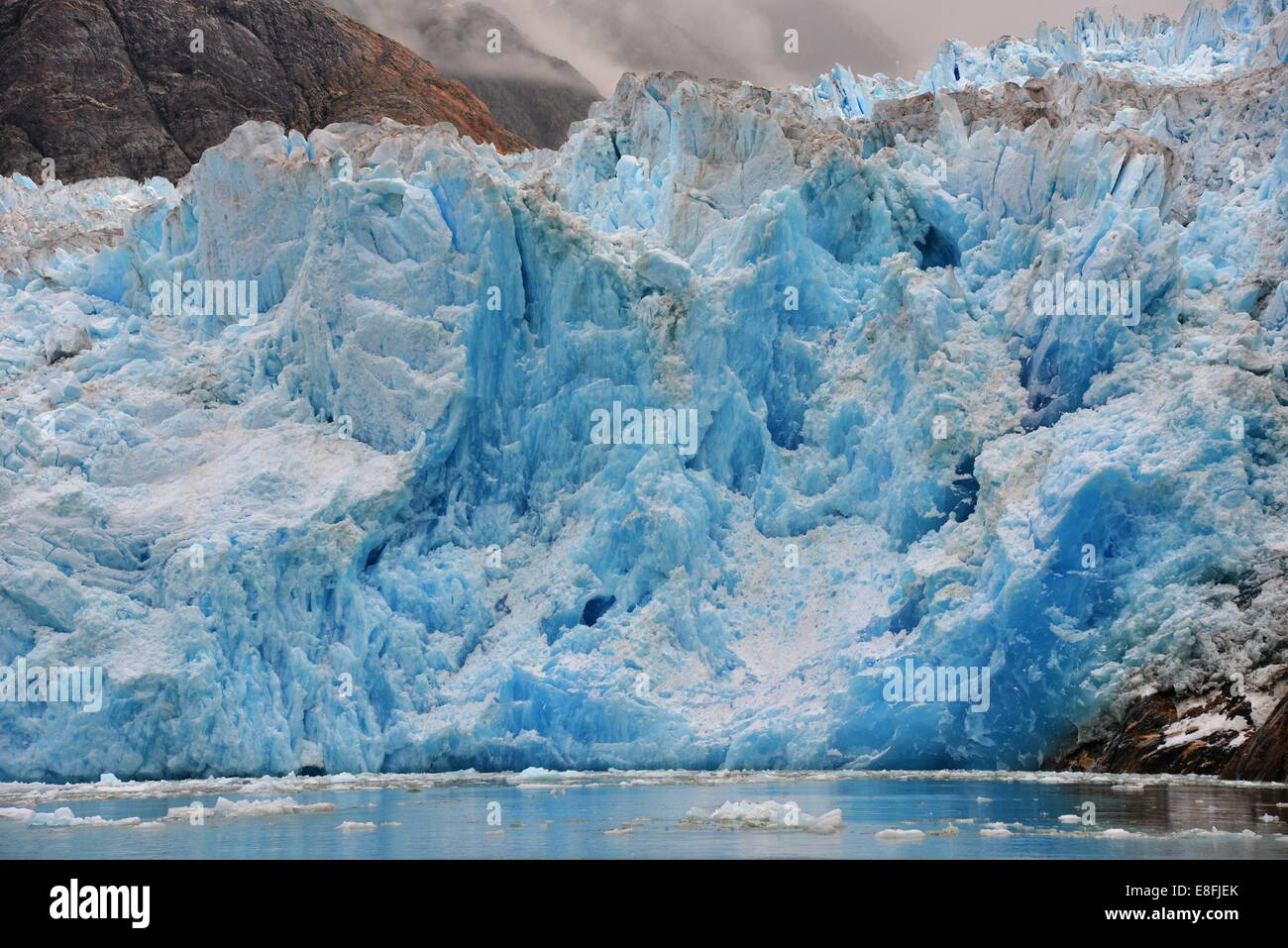 USA, Alaska, Tongass National Forest, Blue Ice Süd Sawyer Gletscher Stockbild