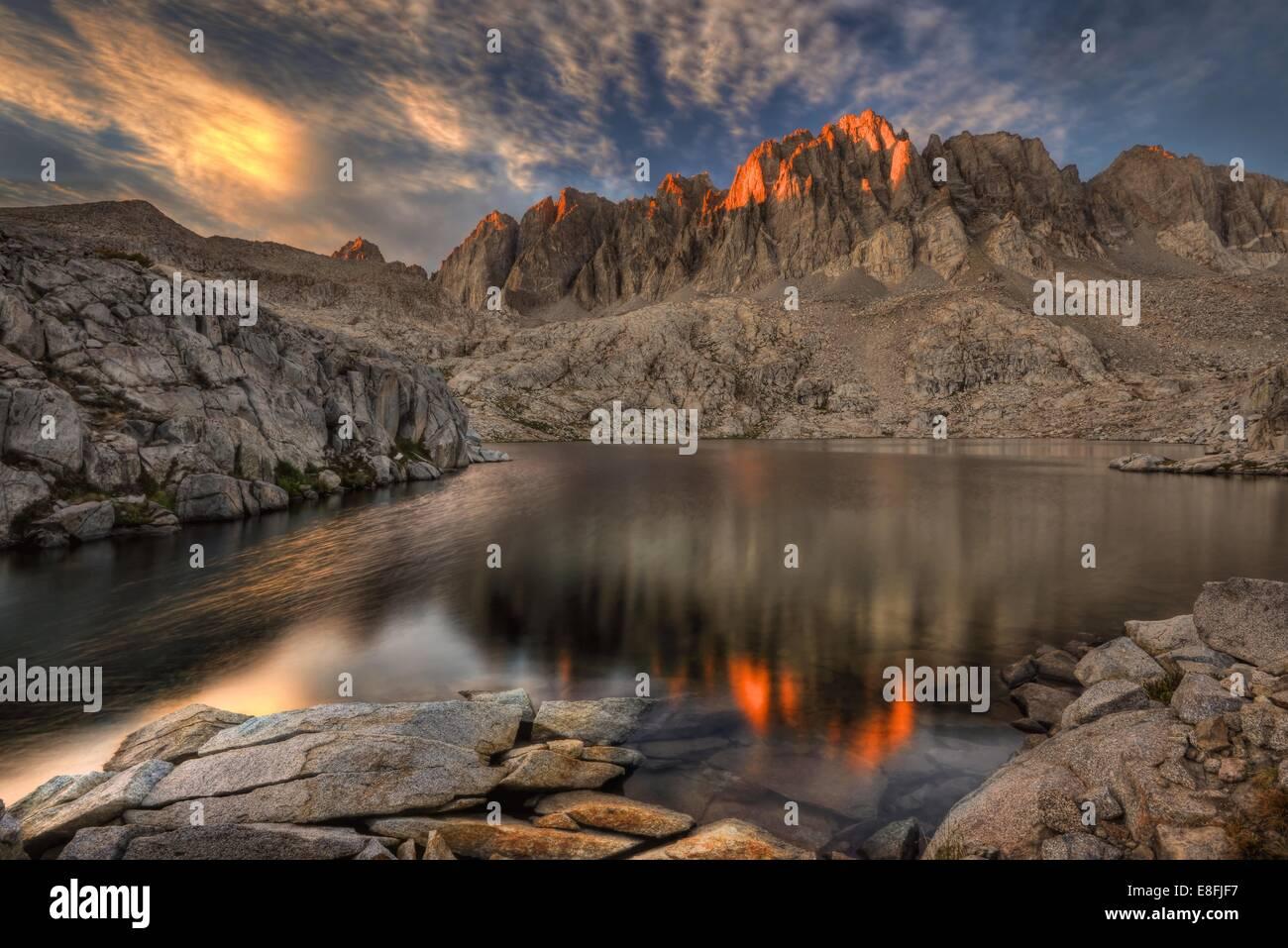 Kalifornien, Vereinigte Staaten von Amerika letzte Licht auf die Palisaden Stockbild