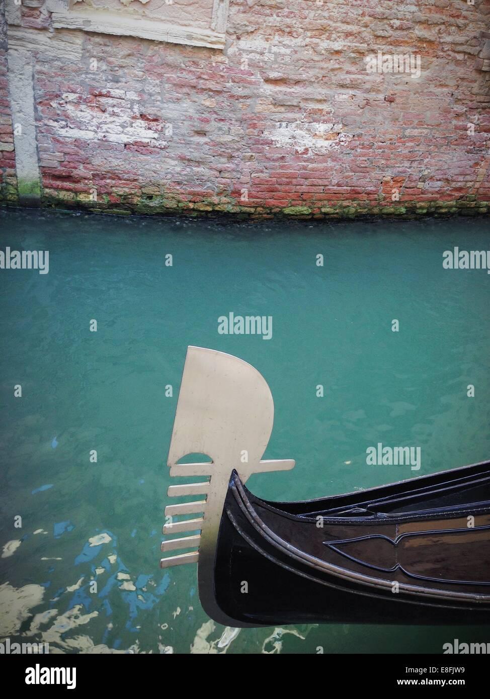 Italien, Venedig, typische Ornament von Booten Stockbild