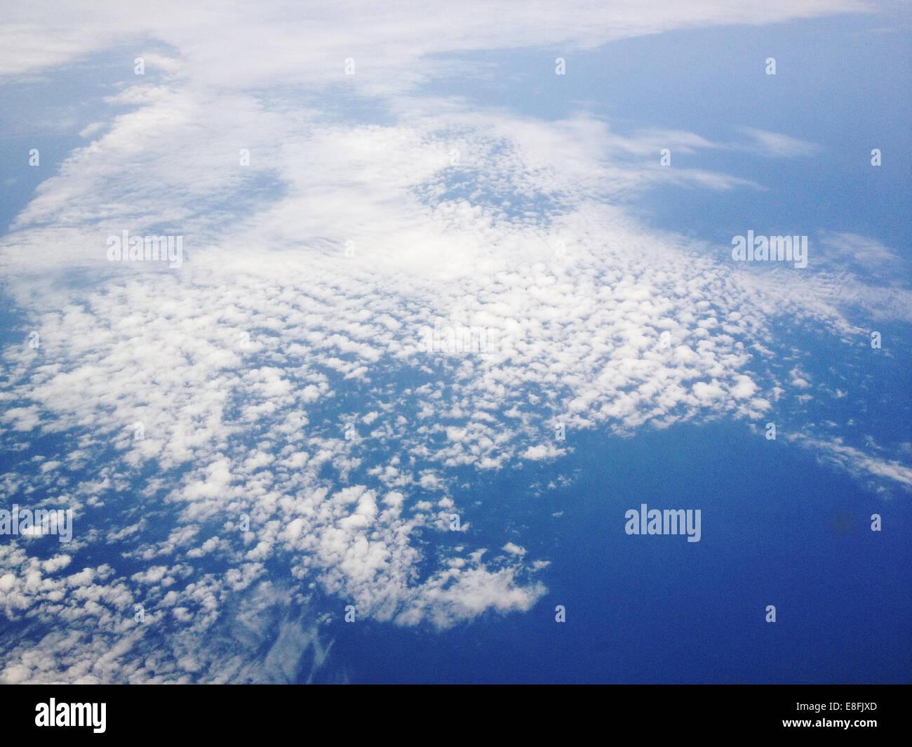 Dänemark, Cirrus-Wolken von oben Stockbild