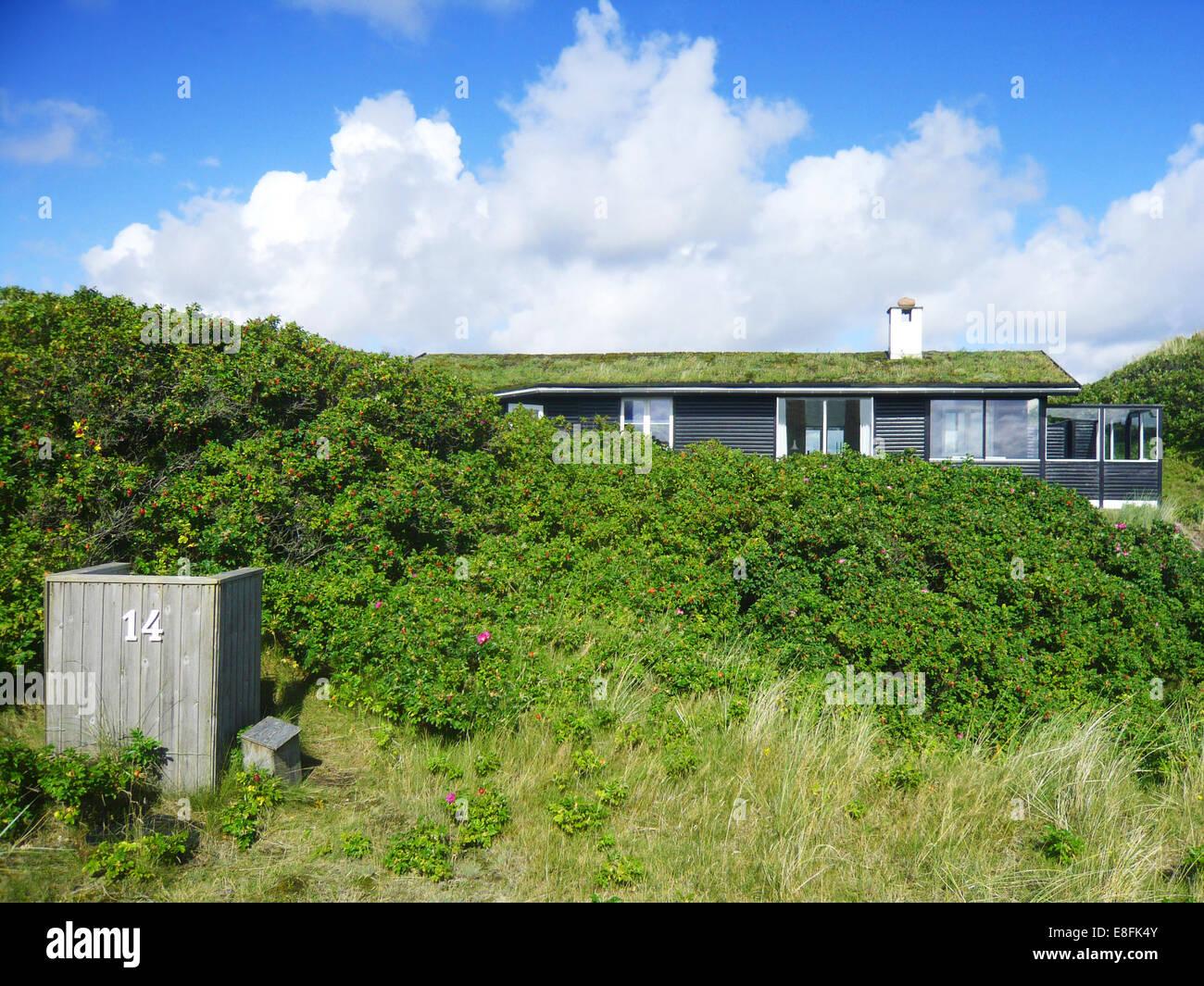 Traditionellen Sommerhaus, Fanø, Dänemark Stockbild