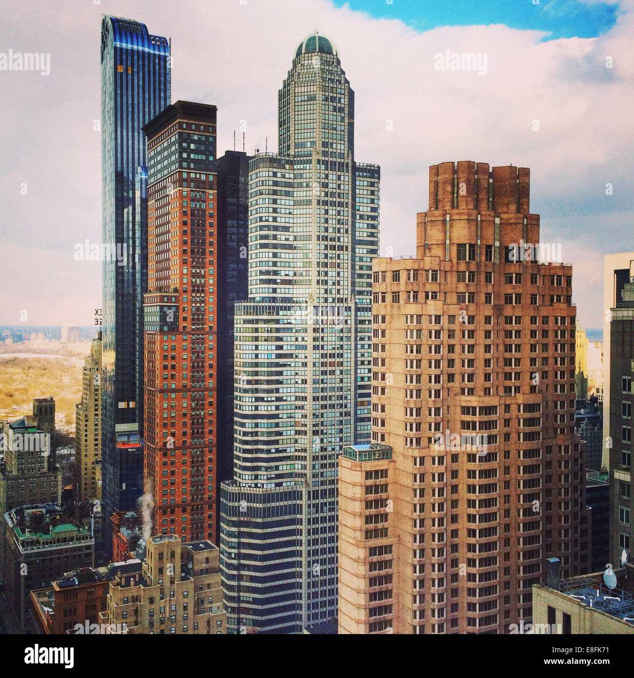 USA, New York State, New York City Midtown Manhattan skyline Stockbild