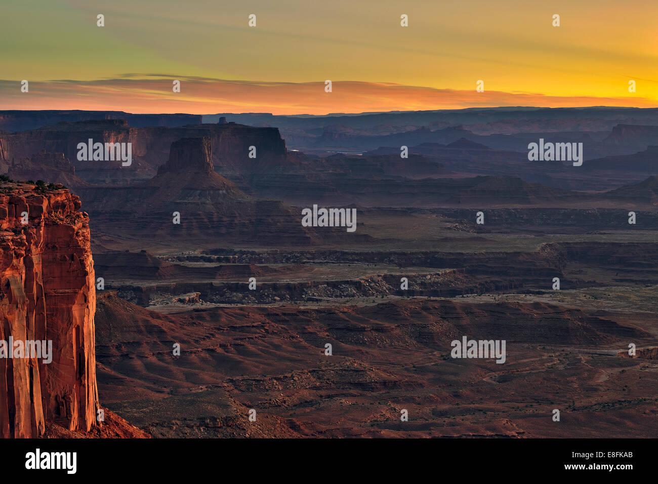 USA, Utah, San Juan, Grand View Point Road, Canyonlands National Park, Blick auf den canyon Stockbild
