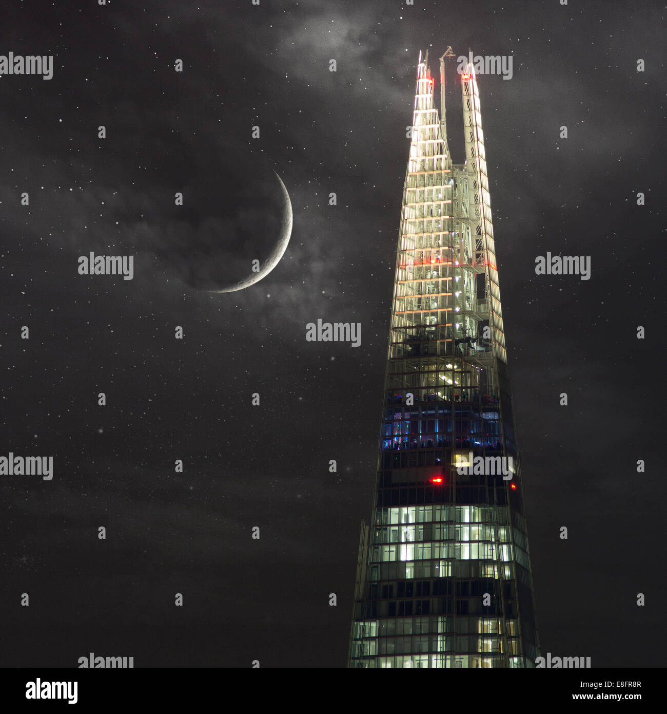 Vereinigtes Königreich, London, Splitter in der Nacht Stockbild
