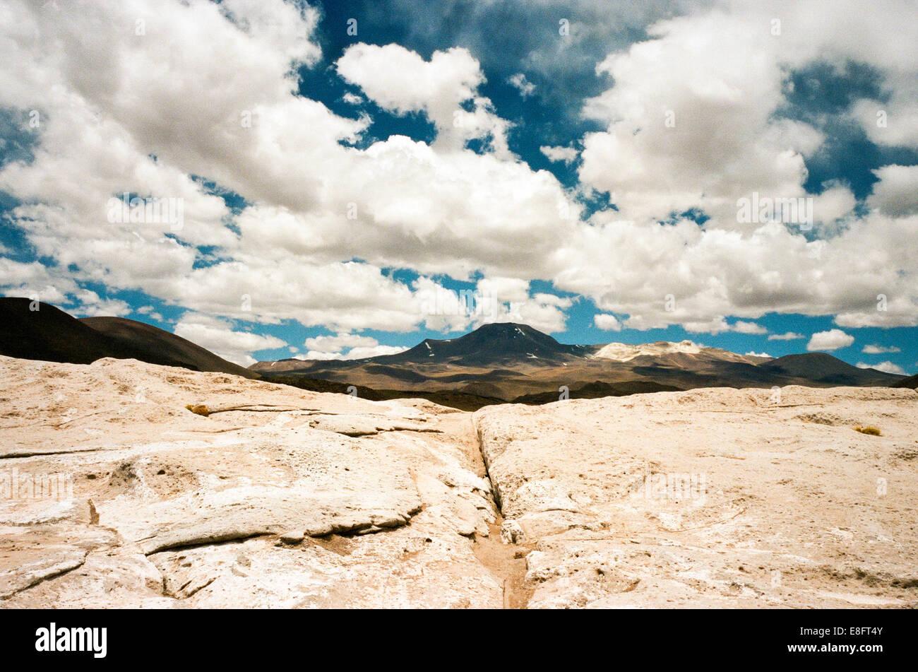 Chile, San Pedro de Atacam Bild des Berges Stockbild