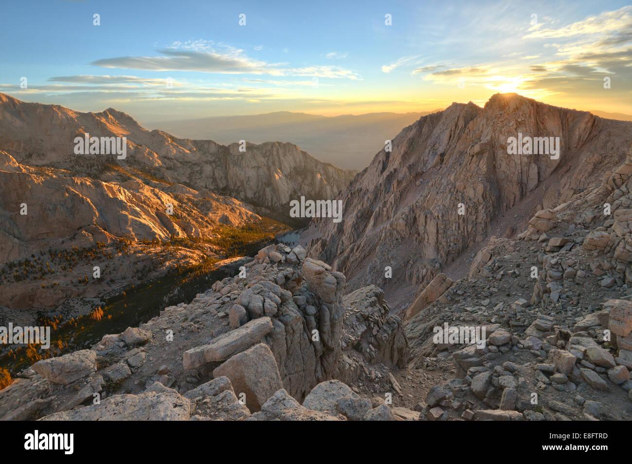 Sonnenaufgang über Candle-Light-Peak Stockbild