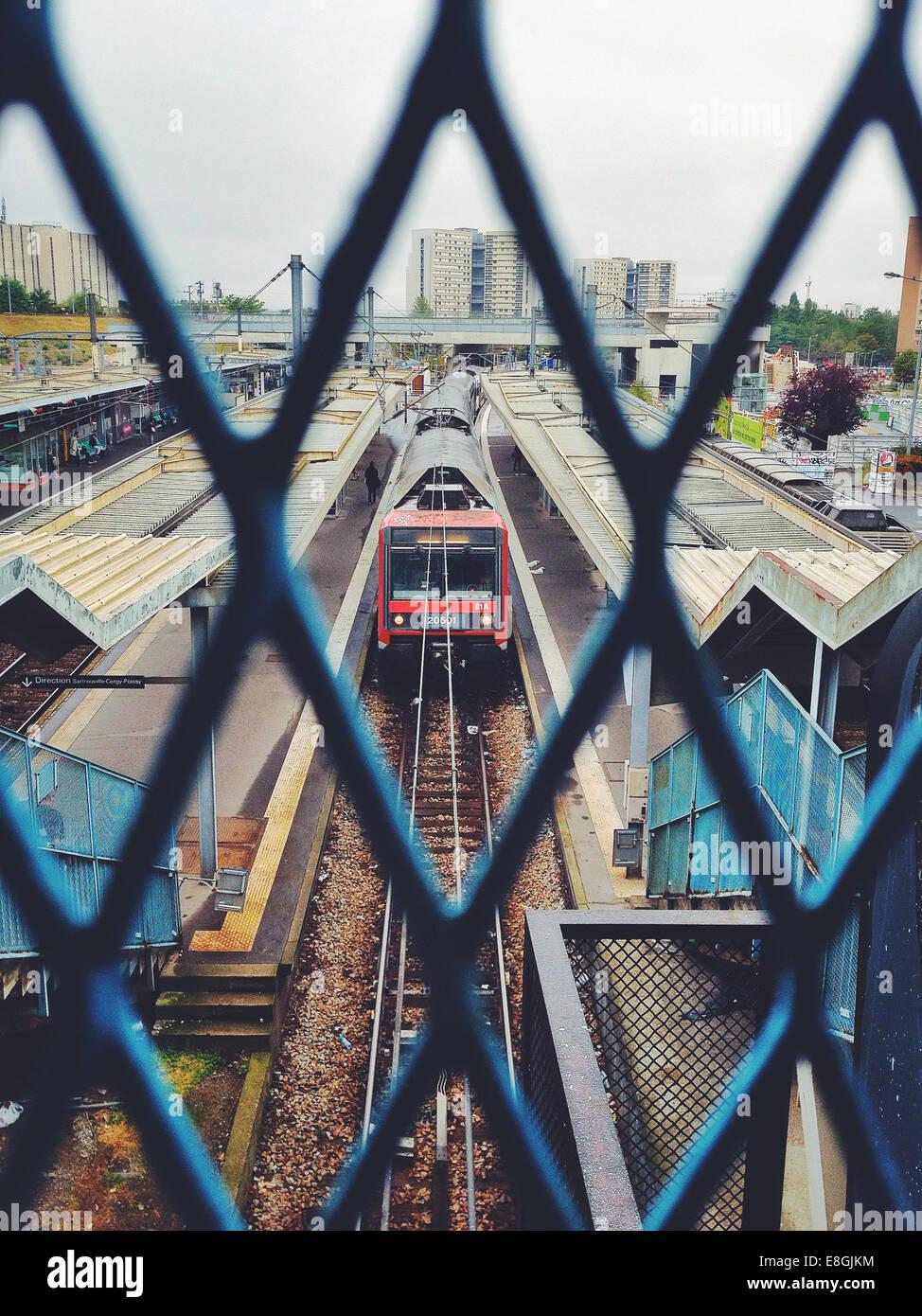 Frankreich, Bahnhof Stockbild