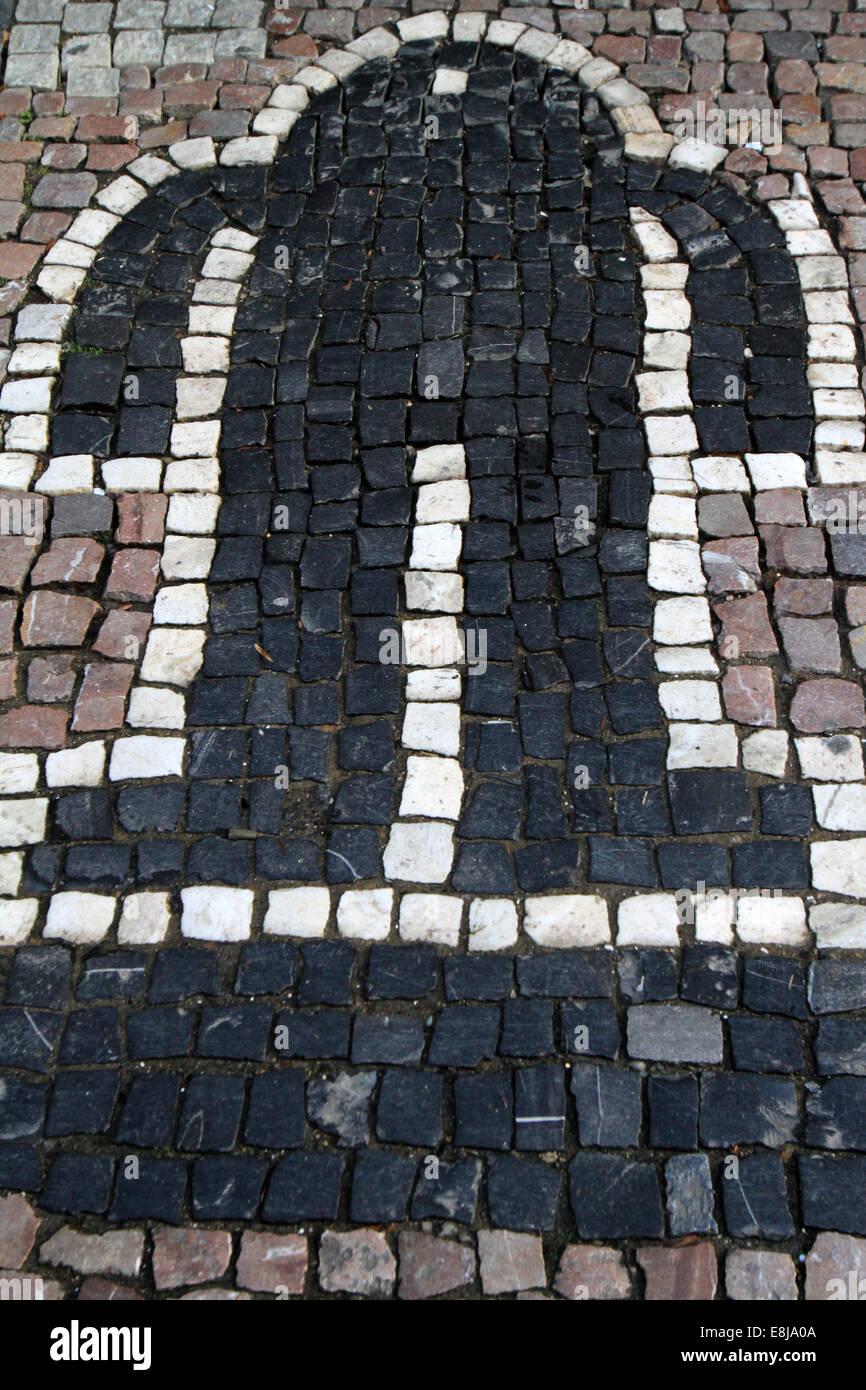 """Symbol für den legendären """"Golem"""", erstellt von Rabbi Loew. Prag. Stockbild"""