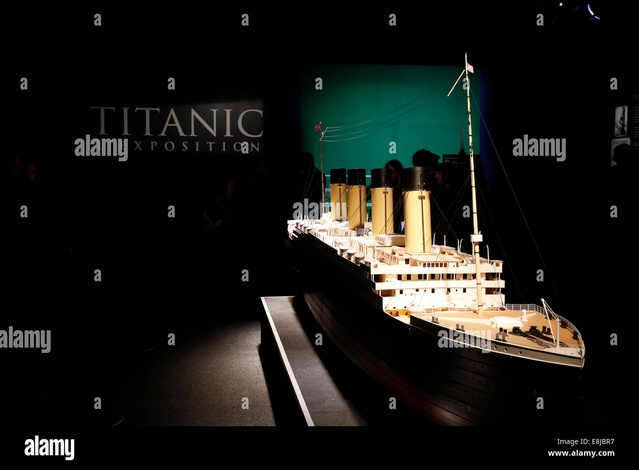 Titanic Ausstellung Stockbild