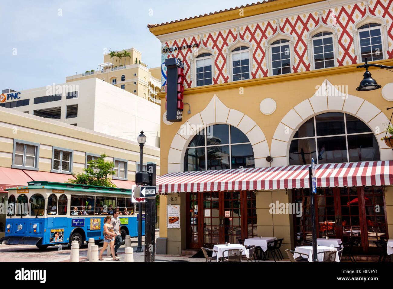 West Palm Beach Florida Clematis Street downtown Don Ramon ...