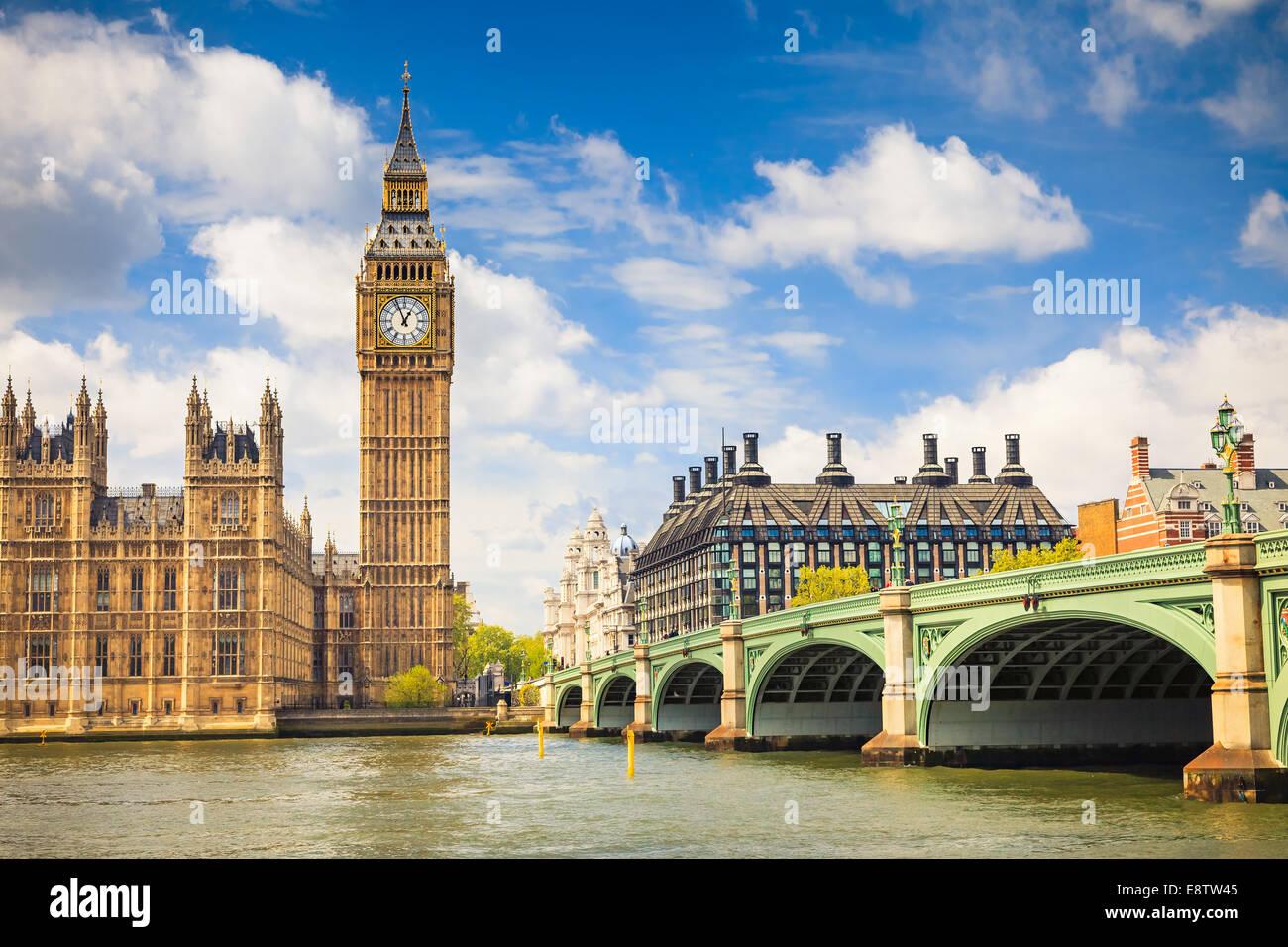Big Ben und die Houses of Parliament Stockbild