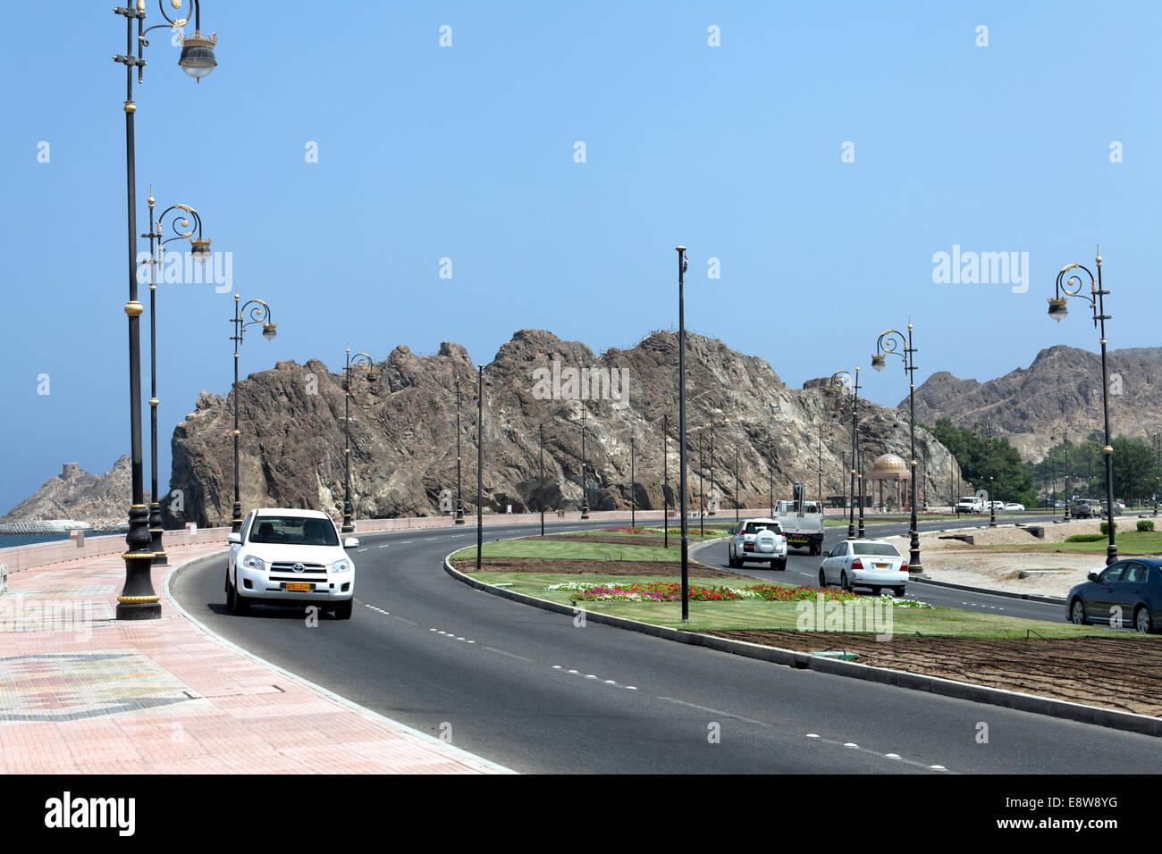 Al Bahri Road, Küstenstraße, Muscat, Oman Stockbild