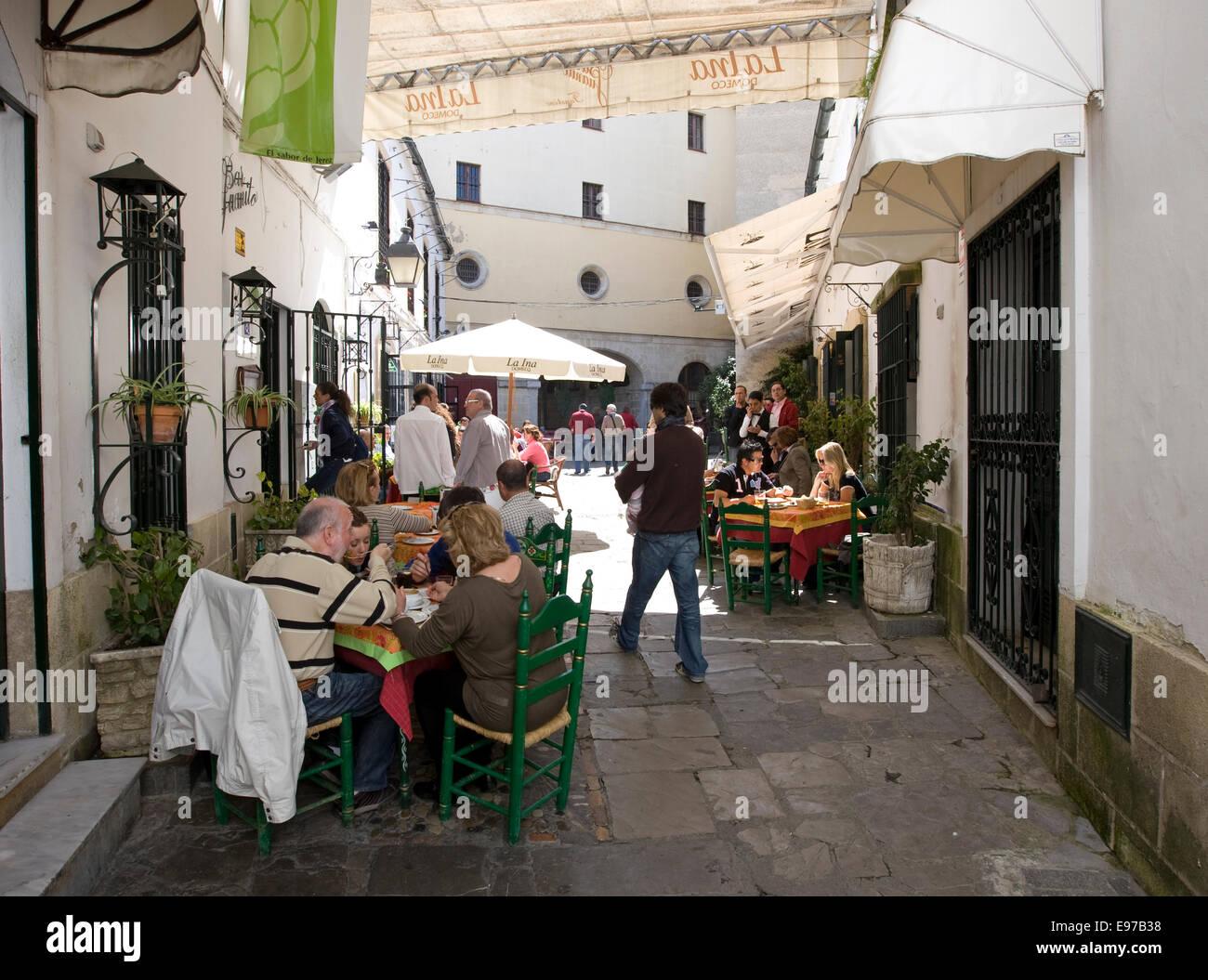 Die Tapas-Bar und Restaurant Juanito in der alten Stadt Jerez De La Frontera Stockbild