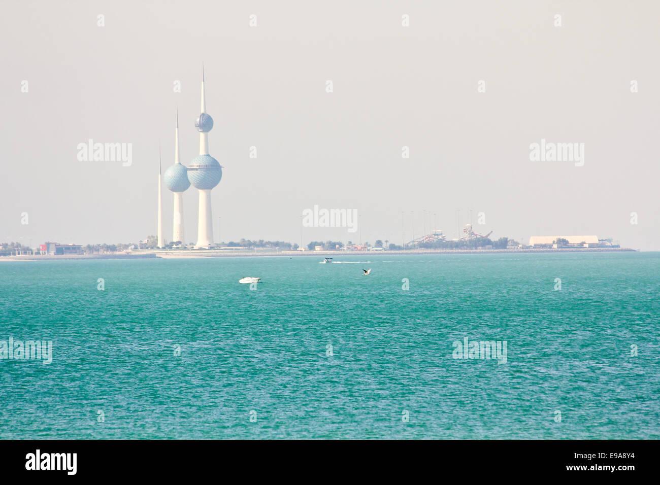 Kuwait Towers bei Tageslicht Stockbild