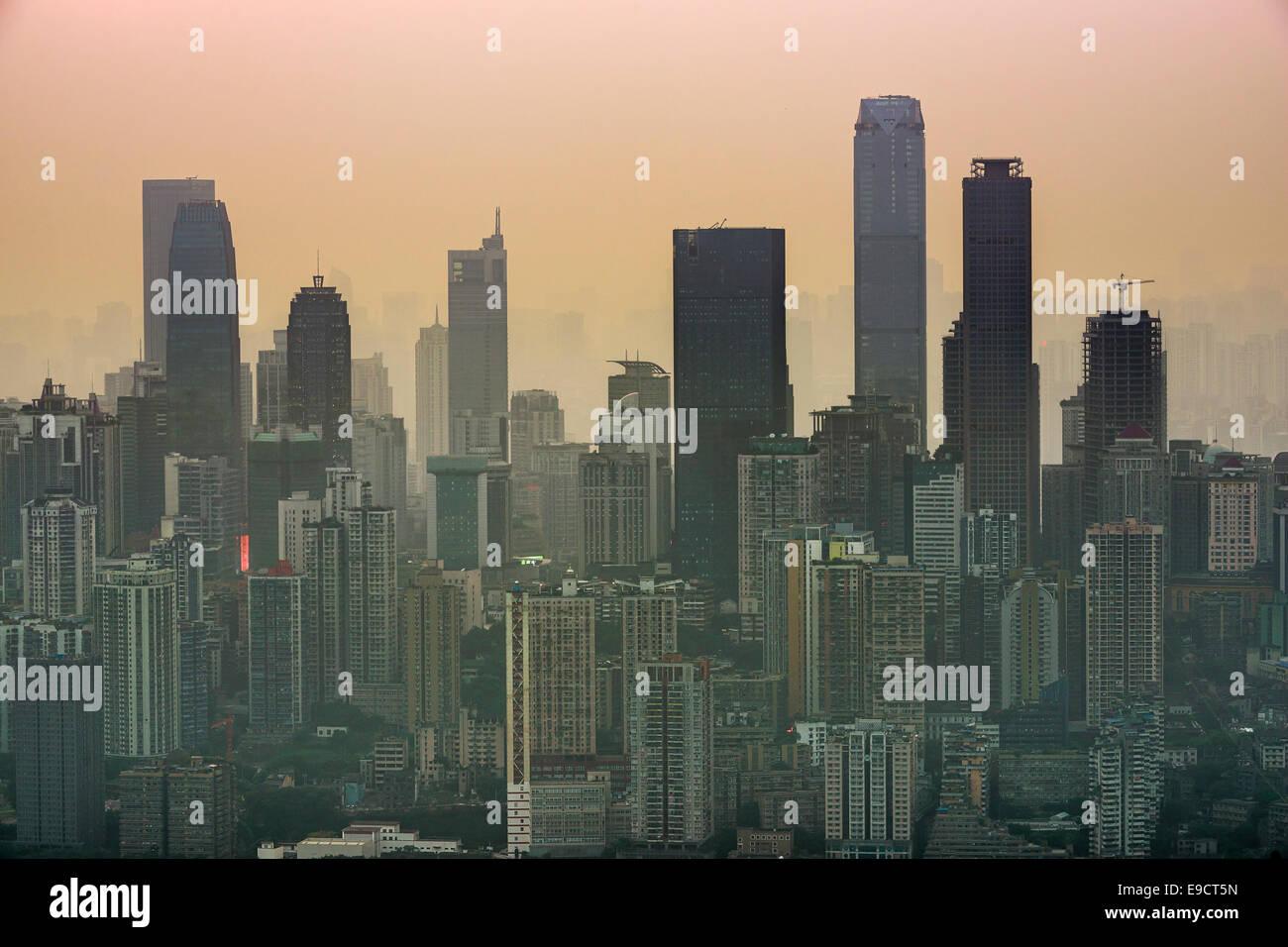 Skyline von Chongqing, China. Stockbild