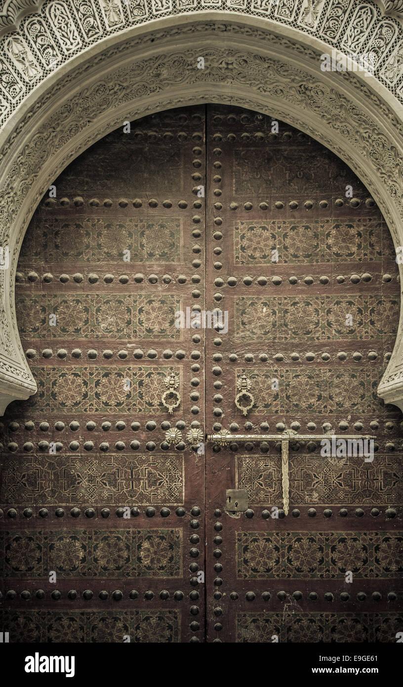 Alte Türen, Marokko Stockbild