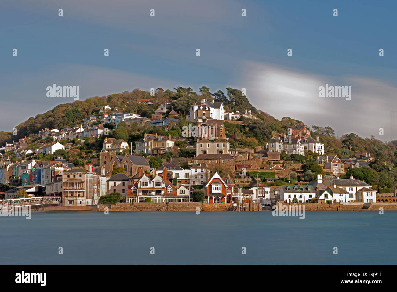 Blick auf Kingswear aus Dartmouth, Devon, England, Uk Stockbild