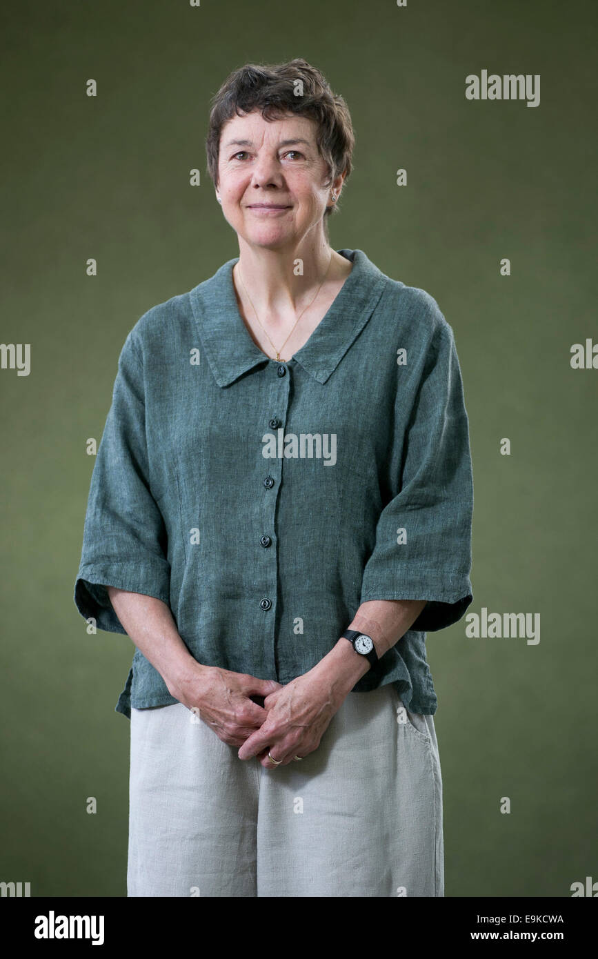 Autor Kate MacKay erscheint das Edinburgh International Book Festival. Stockbild